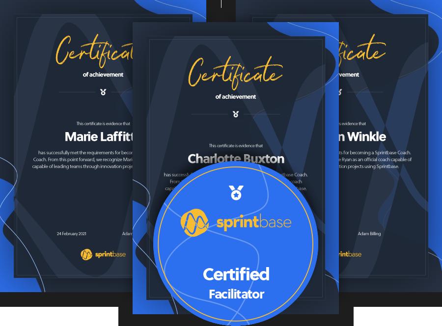 Certificate and Facilitator Badge