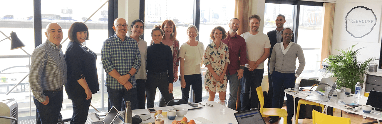 Photo: The first Sprintbase coaching cohort - core team and close friends, London Offices