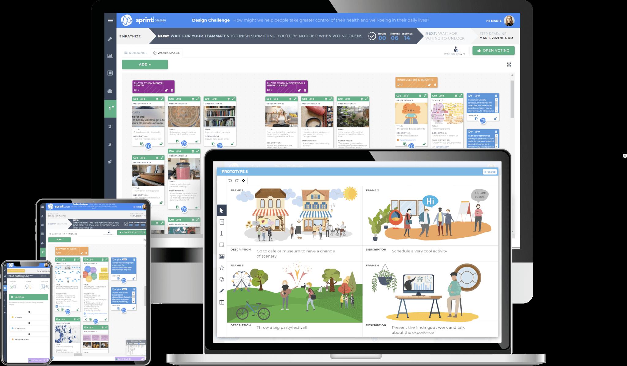 Sprintbase - the design thinking reponsive innovation platform